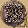 Belt Buckle - Celtic Dogs, for 3 cm wide belts
